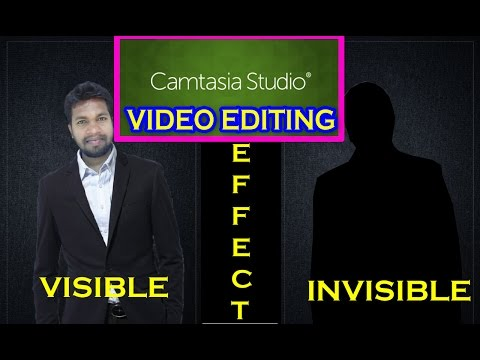 camtasia visible and invisible effect