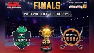 SBL FINALS | Saturday 12th August | Haryana Warriors v/s Maratha Yoddhas