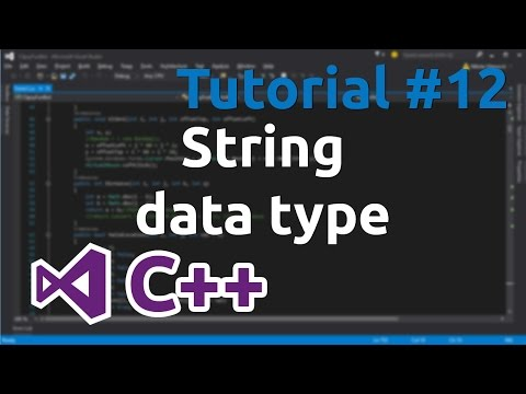 C++ Tutorial 12 - Strings