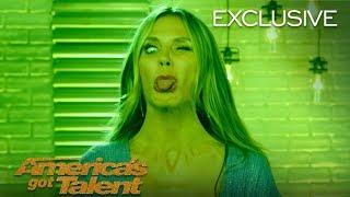Heidi Klum Serves Spooky Halloween Faces - America