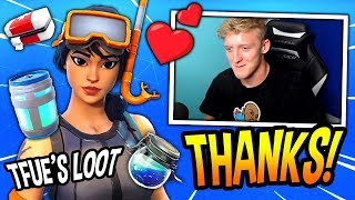 TFUE FINDS A *FRIENDLY* STREAM SNIPER THAT GIVES HIM (FREE) LOOT! Fortnite FUNNY & SAVAGE Moments