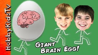 Giant BRAIN Surprise Egg with Learning Toys