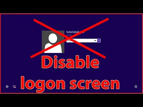 How to disable the logon screen on Windows 8 / 8.1 tutorial
