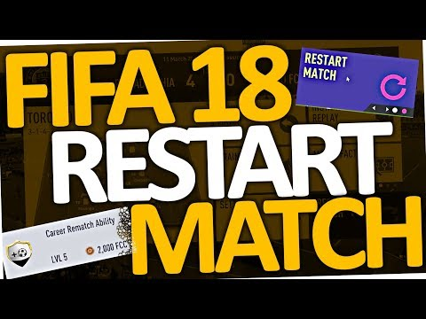 FIFA 18 - How to restart Match in Career Mode & Kick Off (Rematch Ability)