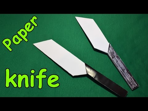How to make a paper knife / Origami paper knife / Easy Tutorials