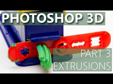 3D in Photoshop CS6 - 03 - Extrusions