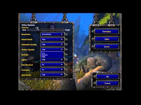 How to Set Graphics Resolution at the Game Warcraft 3 For HD Screen