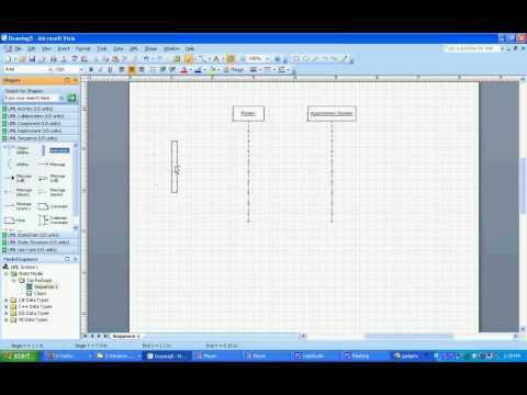 UML Sequence Diagram in Visio 2007
