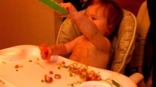 Download Ellie is a member of the clean plate club... Video