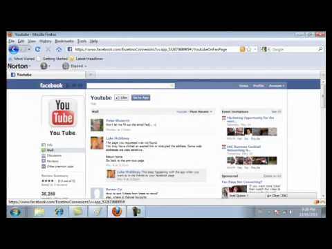 How to connect your YouTube Channel to your Facebook Fan Page