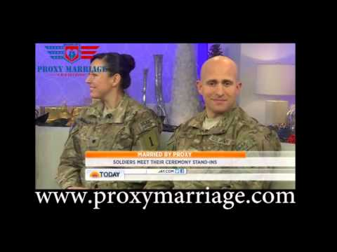 Proxy Marriage on the Today Show