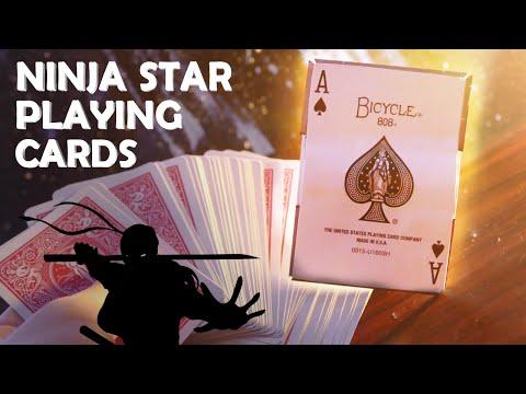 How To Make NINJA STAR Playing Cards! - Hidden Razor Blades!!! (Shuriken)