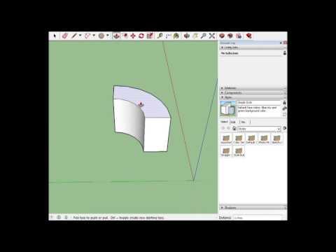Curved ramp Sketchup tutorial