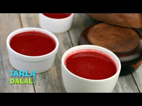 Garlicky Beetroot Soup (Low Calorie Recipe) by Tarla Dalal