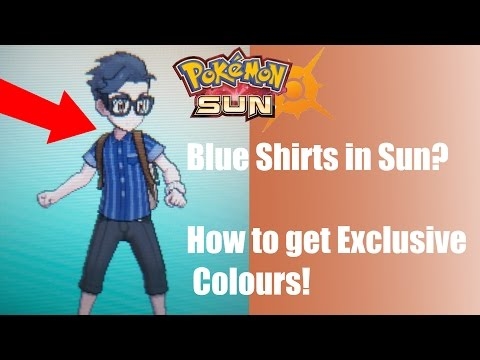 How to get Exclusive Colours for your Clothes! - Pokémon Sun and Moon