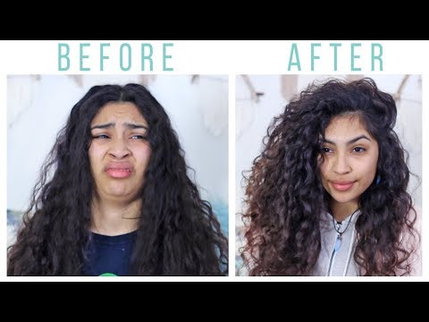 My Big Curly Hair Routine For Volume