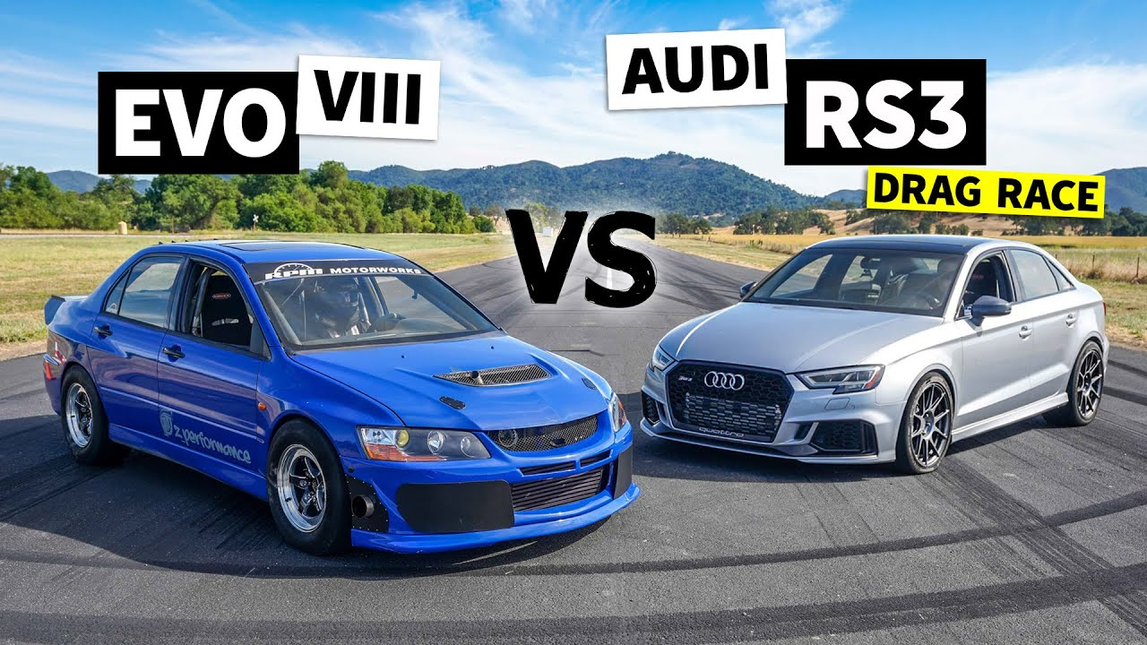 AWD Power Battle: Audi RS3 vs. Mitsubishi Evo // This vs. That