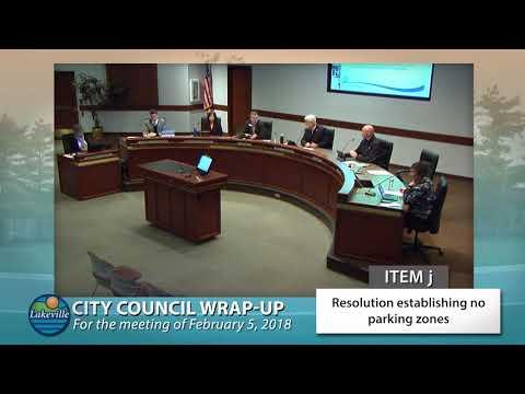 Lakeville City Council Wrap Up - 02-05-2018