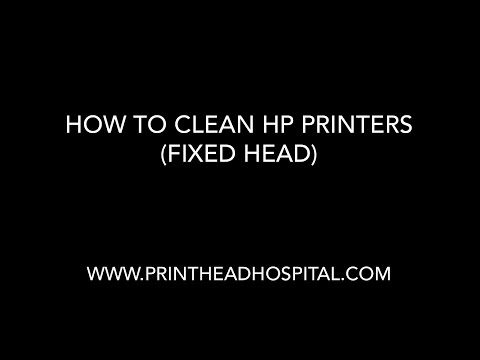 How to Clean HP printers with fixed print heads