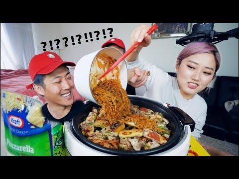 Fire Noodle + Leftover Pizza = ?!?! Mukbang | KEEMI★