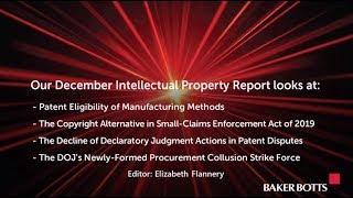 December 2019 - Intellectual Property Report