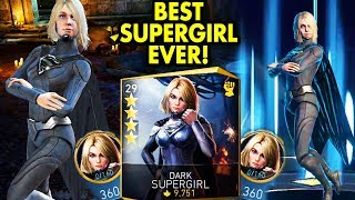 Unlocking 4-STAR Dark Supergirl in Injustice 2 Mobile. Gameplay, Super Move, Review. WOW TAG ATTACK!