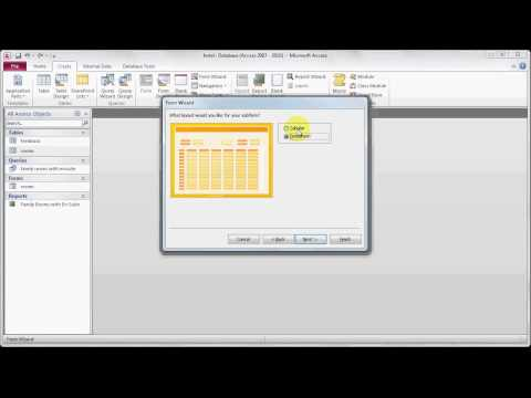 Microsoft Access 2010 - 13: Creating a form using multiple tables