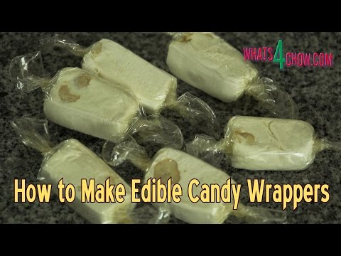 How to Make Edible Candy Wrappers - Edible Cellophane - Making Edible Bioplastic