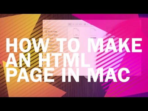 How to make an html page in mac for FREE.