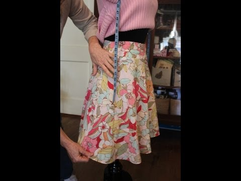 Skirt Alteration - How to Take in the Sides