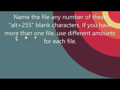 Remove Names of Desktop Icons Windows 10 Tutorial