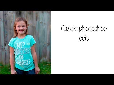 Simple photoshop edit - background blur