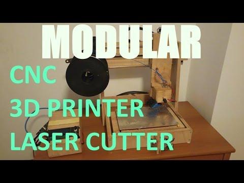 Cheap Homemade Modular 3D printer/mill/laser cutter