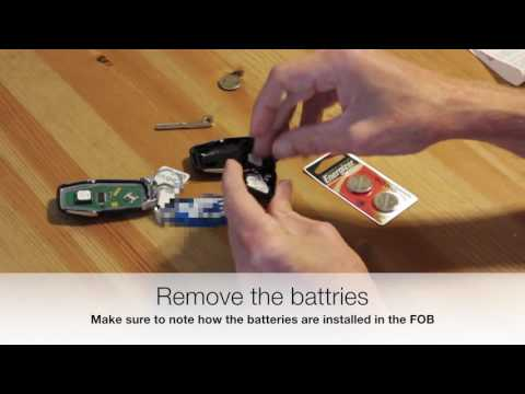 Ford intelligent access key (FOB) battery replacement