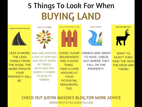 5 Things To Look For When Buying Land: Advice From Justin Mason