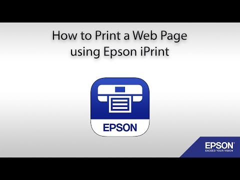 How to Print a Web Page using Epson iPrint - iOS