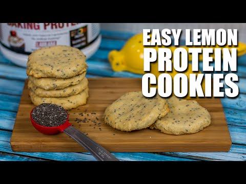 Low Calorie LEMON Chia Protein Cookies