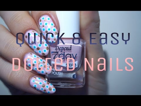 Quick & Easy | Dotted nails