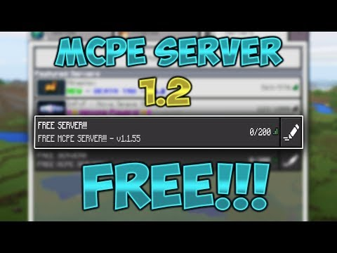 How To Make A FREE Server For MCPE 1.2!!!