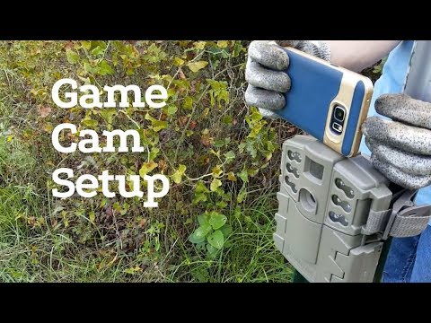 How to set up your game camera with your cell phone