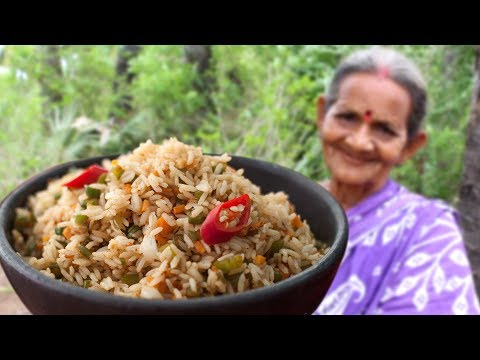 Granny Special item Vegetable Fried Rice || Myna Street Food