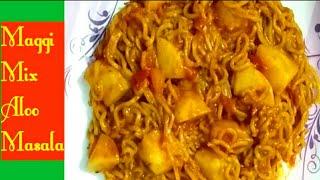 Maggi Mix Aloo Masala | Maggi Aloo Masala In New Style | By Fun With Rangoli Random