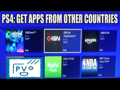 PS4: How to Get Apps From Other Countries