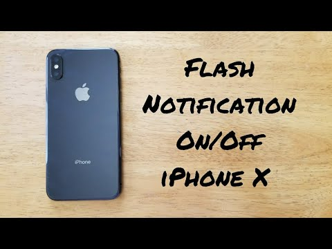 How to set flash for alerts iPhone X, 8 / 8 Plus