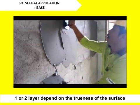 Skim Coat / Plastering Application for Wall