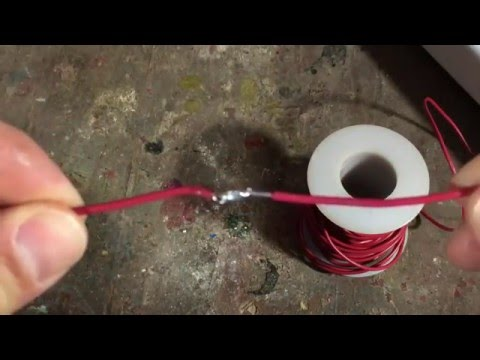 How To Solder Two Pieces of wire Together - Tutorial