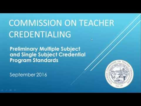 Preliminary Multiple Subject and Single Subject Credential Program Standards