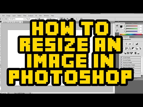 How To Resize An Image In Photoshop CS6 2017 - Resize Layer / Image In Photoshop Tutorial
