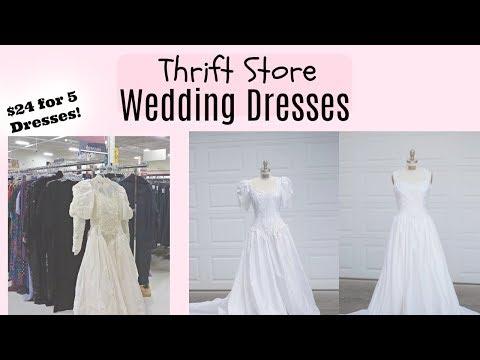 Super cheap Wedding dress from Thrift store haul