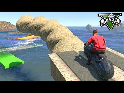 GTA V Online: PARKOUR nas ILHAS COM MOTO TRON!!! MITEI
